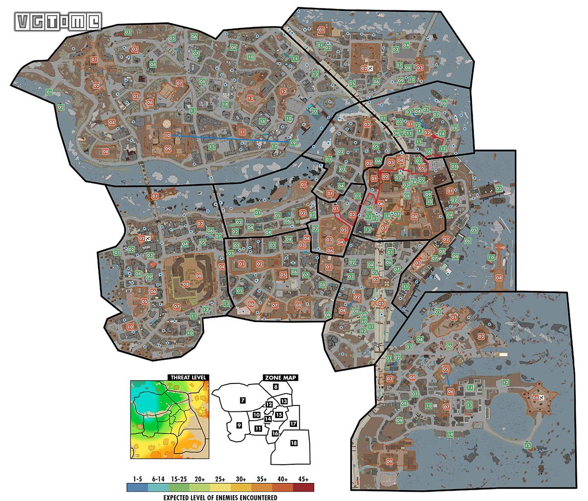 《辐射4》世界地图(大波士顿地区)